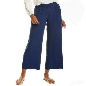 Johnny Was Calmé Cropped Palazzo Pant Navy M NWT